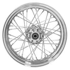 V-Factor 19 x 2.5 Chrome 40 Spoke Dual Disc Wheel for Harley 00-03 FXD, 00-07 XL