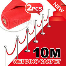 Oz Awards Hollywood - 2x Red Carpet Runner Casino Wedding Decoration Party 5m*1m
