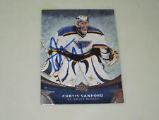 CURTIS SANFORD AUTOGRAPHED 2006-2007 UPPER DECK OVATION CARD-BLUES