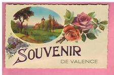 CPA - VALENCE   - 26 -   SOUVENIR DE VALENCE -   FANTAISIE - FLEURS
