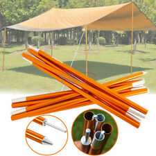 5 Sections Tarp Shelter Canopy Tent Awning Support Rod Upright Porch Poles 2pcs