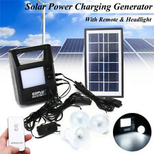 Portable Solar Panel Generator System with Rechargeable Battery Headlight