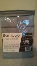 NEW Bamboo Essence Ashley Taylor Ultra  2000 Series 6 Piece QUEEN SET-   GREY