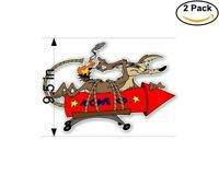 Wile E Coyote ACME Rocket 2 Stickers 9.5 Inch Sticker Decal