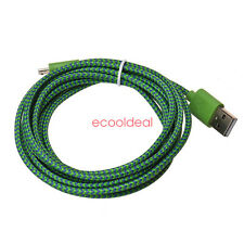 3M10FT Braided Nylon Micro USB Charger Sync Data Charging Cable Cord for Phone S