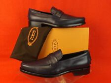 NIB TOD'S NAVY LEATHER GOMMA BOSTON PENNY LOAFERS DRIVING 11.5 UK 10.5 $525