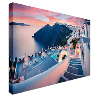 Santorini island Canvas Canvas Wall Art Picture Print