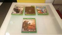 Xbox 360 & Xbox One GAmes lot of 4 Viva Pinata Skyrim Titan Fall Pro Street