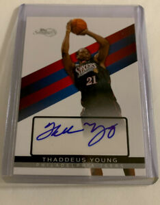 """Topps """"Signature"""",Autographed,Thaddeus Young, Philadelphia 76rs,#TSA-TY,N/M Cond"""