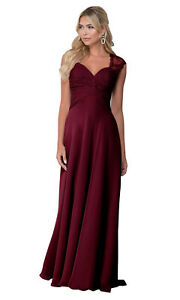 Ladies Wedding Bridesmaid Formal Chiffon Long Evening Ball Gown Party Prom Dress