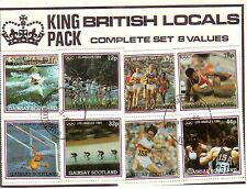 Gairsay  Scotland:Complete set of 8 used stamps showing Los Angeles 1984
