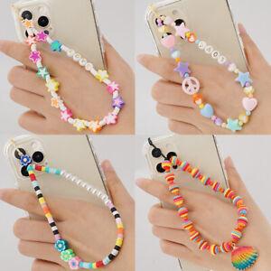 Women Key Holder Camera Mobile Phone Anti Lost Lanyard Beads Chain Cord Strap