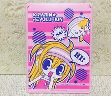 NEW Rare Kirarin Revolution Anime Big Folding Mirror Pink Color Official Japan