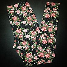 NWT Buttery SOFT Gorgeous Pink Floral Leggings Tall & Curvy XL Pink Rose Plus TC
