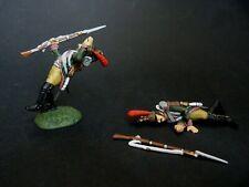 Frontline Figures soldat de plomb 2 dragons à pied de la garde blessés et morts