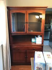 China Closet- wood, brown, mint condition, 79'' height 17'' depth 45'' wide