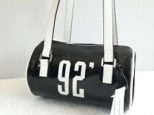 TOPSHOP Black Patent 92 'Retro Style' Mini Bowler Bag BNWT