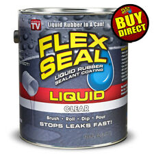 Flex Seal Liquid - Liquid Rubber Sealant Coating - Giant 128oz (Clear)
