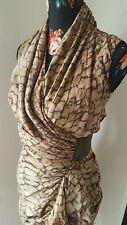 All saints bleach python print wrap dress size UK 6 us 2 Eu 34
