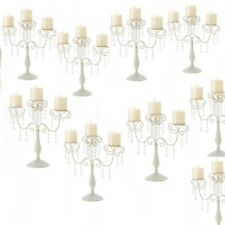 Lot 30 Elegant Ivory Candelabra Crystal Candle Holder Wedding Centerpieces