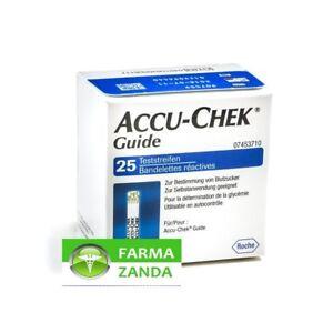 Accu-Chek Guide 25 Strisce Reattive glucosio sangue glicemia SCAD 06/2022