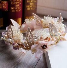 Women Baroque Shell Flower Head Band Hairband Tiaras Crown Party Wedding