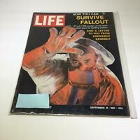 VTG Life Magazine September 15 1961 - Survive Fallout & A Letter from Kennedy