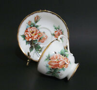 Paragon Teacup and saucer Floral Gilded Signed by Dany Robin Bone China D500