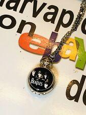The Beatles  Necklace Charm Pendant w Clock