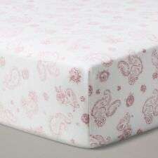 Simply Shabby Chic Pink Paisley Fitted Crib Sheet 100% Cotton Woven