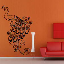 Wall Decal Sticker Vinyl Decor Peacock Bird Beauty Tail Feather Bedroom M926