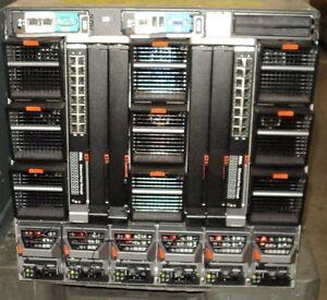 DELL PowerEdge M1000e Chassis 16 x M610 512GB RAM 128CORE CPU Blade Server GST