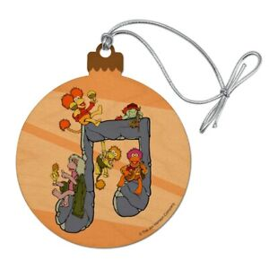 Fraggle Rock Music Note Wood Christmas Tree Holiday Ornament