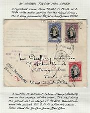 1939  ORIGINAL TIN CAN MAIL COVER  -  TONGA TO PERTH  -  JUBILEE COVER