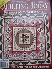 'Quilting Today', patterns, corners, Arizona, Oct 1993, USA vintage unused VGC #