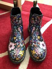 Flowery Dr Martens Chelsea Boots Size 9