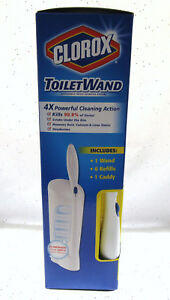 Clorox Kit Toilet Wand CADDY and 6 Disinfecting Refill Heads Clean BFR