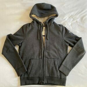 Abercrombie & Fitch mens small sherpa-lined full-zip hoodie