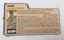 Vintage GI JOE File Card - GUNG-HO - VG-EX- 1983 - Retail Version