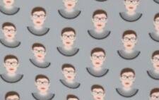 Ruth Bader Ginsburg 100 % Cotton Fabric 1/4 Yard 9 X 42 SHIPS TODAY