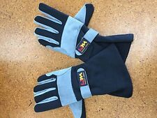 GO KART GLOVES - BLACK/grey Size EXTRA SMALL