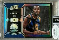 2017 National Panini VIP Gems KEVIN DURANT Diamond Jersey Number 3/5 Auto 1/1