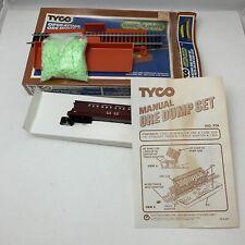 "Tyco HO scale ""Operating Ore Dump Set"" with Nite-Glow Ore Load #916 Damaged Box"