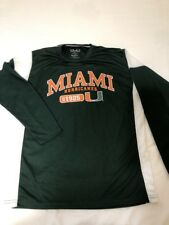 OVB Old Varsity Brand Men Large Green Miami Hurricanes L/S Shirt