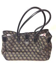 Dooney & Bourke handbag  leather canvas shoulder bag