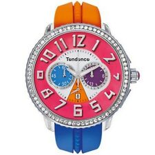 Tendence Crazy Watch Red White Rubber Strap Multicolor Dial Chrono TG460407