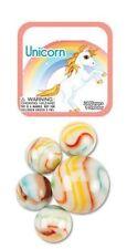 Mega Marble- 24 Collectible Marbles,1 Shooter, Net bag- Unicorn