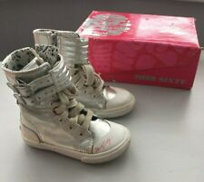 MISS SIXTY Girl's Silver Leather Shoes Sneakers EUR25
