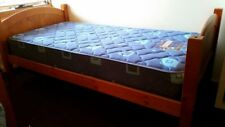 Single wood bed frame with slats in great condition