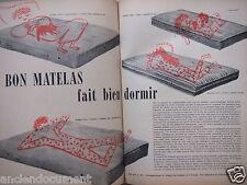 PUBLICITÉ 1955 TRÉCA BON MATELAS FAIT BIEN DORMIR SUPER PULLMAN CONFORT ANJOU